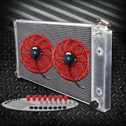 Fit For 70-1981 Chevy Camaro 64mm Aluminum Racing Radiator + 2 12 Cooling Fan
