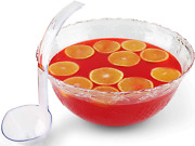 Heavyweight Clear Plastic 2 Gal Punch Bowl 5 Oz Serving Ladle Crystal Punchbowl