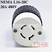 1pc Lk-7424nema Hanging Socket L16-20r 20a 480v Generator Medical Device Female