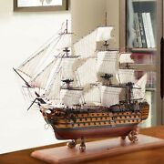 European Style Simulated Solid Wood Sailboat Model Ornaments