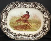 Spode Woodland Large Serving Platter 19 Pheasant New In Gift Box