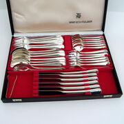 Antique Pearl Pattern 6 Person Dinner Set 37 Pieces German 800 Silver