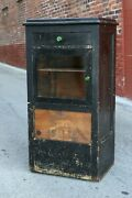 Antique Apothecary Cabinet Dental Cupboard Medical Glass Display Case Vintage