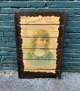 Vintage Doctor Medical Wood Sign Medicine Apothecary 1974 Lady Bust Wall Hanger