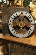 Antique Carnival Gambling Wheel Game Casino Wood Wheel W Wooden Crate Box Old
