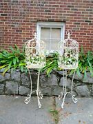 Vintage Decorative Iron Plant Stand/bird Cage Like A Pair