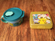 Pokemon Tupperware Container Lot Pikachu Sandwich Keeper Squirtle Soup Mug