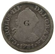 Great Britain 1/2 Real 1781 Ff Countermarked G - George Lt 179