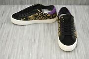 D.a.t.e. Hill Low Animalier Python Pony Hair Sneakers Womenand039s Size 5 Black/tan