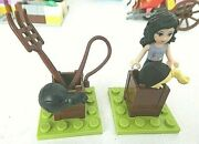 Lego Lot Of 8 Horse Training Tools Figure From Friends Summer Riding Camp 3185