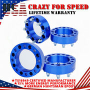 4 2and039and039 8 Lug Wheel Spacer Adapters 8x6.5 For Chevy C/k 2500/3500 Gmc Yukon Nissan