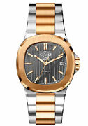 Gv2 By Gevril Menand039s 18104 Potente Swiss Automatic Two-tone Ip Steel Date Watch