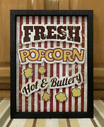 Popcorn Cinema Theater Now Showing Movie Reels Home Wall Decor Film Dvd Soda