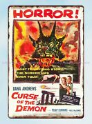 Reproduction Signs Curse Of The Demon 1957 Horror Movie Metal Tin Sign
