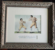 Antique Boxing Engraving / Tom Johnson V Isaac Perrins