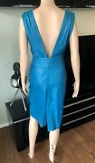 Gianni Versace 1990andrsquos Vintage Leather Belted Open Back Dress