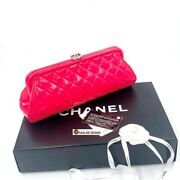 Timeless Clutch Pink Patent Shw W/tag And Cert Of Authenticity