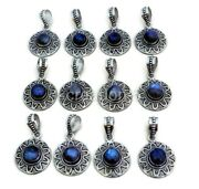 New Arrival 200 Pcs. Lot Natural Labradorite 925 Silver Plated Pendants Jewelry