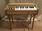 Rare Early 1960's Jaymar Child's Wood Toy Electric Organ Piano...works