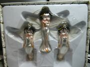 Bright Ideas 1998 Angel Betty Boop Ornaments 3 Glass Figures With Wings