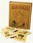 Antique Replicated Old Maid Card Game Set 3 X 4 Cards Nib