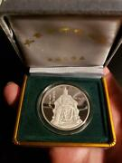 1993 China S1oz Genghis Khan Silver Proof With Coa And Original Box 5000 Mintage