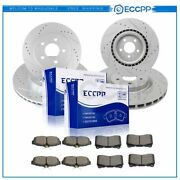 Ceramic Brake Pads And Rotors Front Rear For Ford Mustang 2011-2013 2014 5.0l