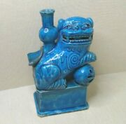 Antique Chinese Turquoise Glazed Figurine 18th-19th Century.