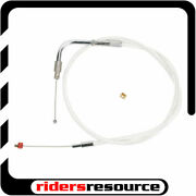 Barnett - 102-30-40043-08 - Stainless Clear-coated Idle Cable +8 In
