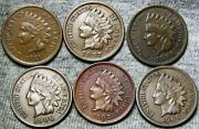 1881 1887 1894 1906 1907 1909 Indian Cent Penny ---- Nice Coin ----- H994