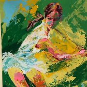 Leroy Neiman Backhand 1974 Chris Evert Limited Edition Serigraph Signed