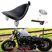 Black Motorcycle Solo Seat Spring For Harley Davidson Dyna Fat Bob Fxdf