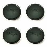 4x Niche Satin Black Wheel Center Hub Caps 3od Snap-in For 5x130 M164 Anzio M16