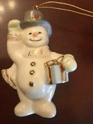 Lenox Snowman Christmas Tree Ornament 1998 Annual Collection