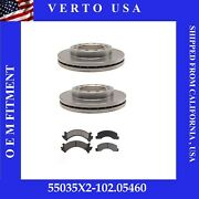 Front Brake Rotors And Pads For Isuzu Npr 1986 1987 1988 1989 1990 1991 To 1996