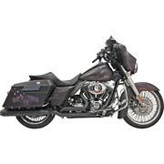 Bassani Dual Down Under Blk Sys. For 10-13 H-d Road Glide Cust.fltrx