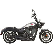 Bassani Pro Street Turn Outs Exhaust Blk 06-15 Victory Vegas