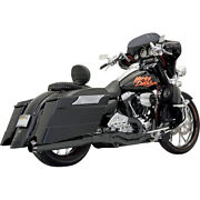 Bassani Road Rage Ii B1 Pwr 2-1 Sys. Blk For 04-06 H-d Road King Cust.flhrs