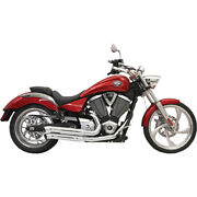 Bassani Pro Street Turn Outs Exhaust 12-15 Victory Highball