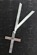 R. Carr Ltd - Sterling Silver Cross Bookmark And Ribbon - Can Be Engraved - Nice