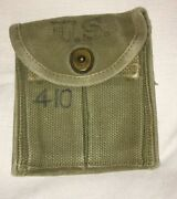 Vintage Lot Of 3 Ammo Pouches, Wwii Pouch Kadin 1943 Us Army First Aid Pouch +
