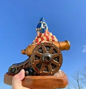 Vintage Betsy Ross Flag And Civil War Cannon Confederacy Union Statue 10 ❤️sj5m1s