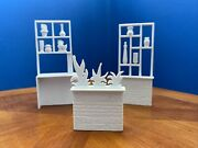 Rare Marx Mid Century Room Dividers Doll House Furniture Lot Of 3