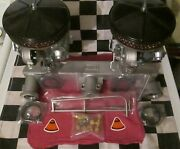 New Chevy 2x1 Fenton Manifold Setup W/new Carburetor/carbs And New Air Cleaners Hp