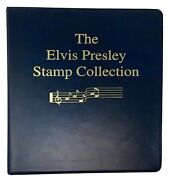 The Elvis Presley Stamp Collection Album 🐇577 Stamps Brand New 1935-1977