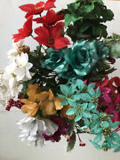Special Mixed 12 Pieces Flowers Bush Silk Flower Christmas Home Mxd1020 Us