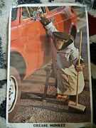 Vintage 1976 Grease Monkey Poster 35x23 Extremely Rare.