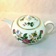 Wedgwood Charnwood Coffee Teapot 4 Cup Blk Stamp R3984 Butterfly Bee England