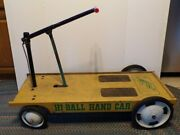Vintage Very Rare And Unique Children's 1960's Ride On Amf Hi-ball Hand Car Toy