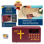 Rechargeable Audio Player Electronic Bible Talking King James Version Audio